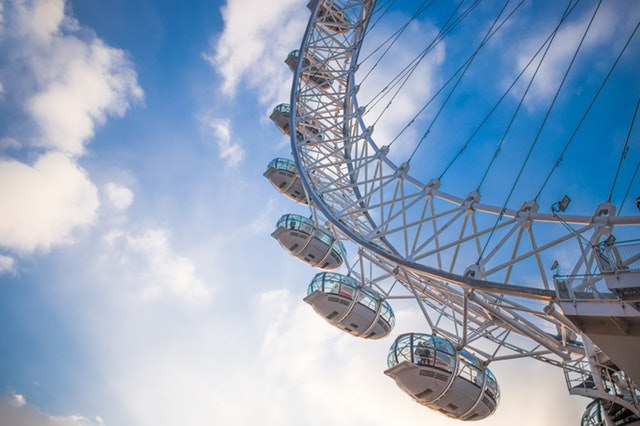 picture of london eye in London england