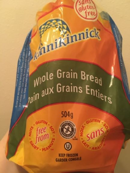 Picture of Kinnikinnick bread for review