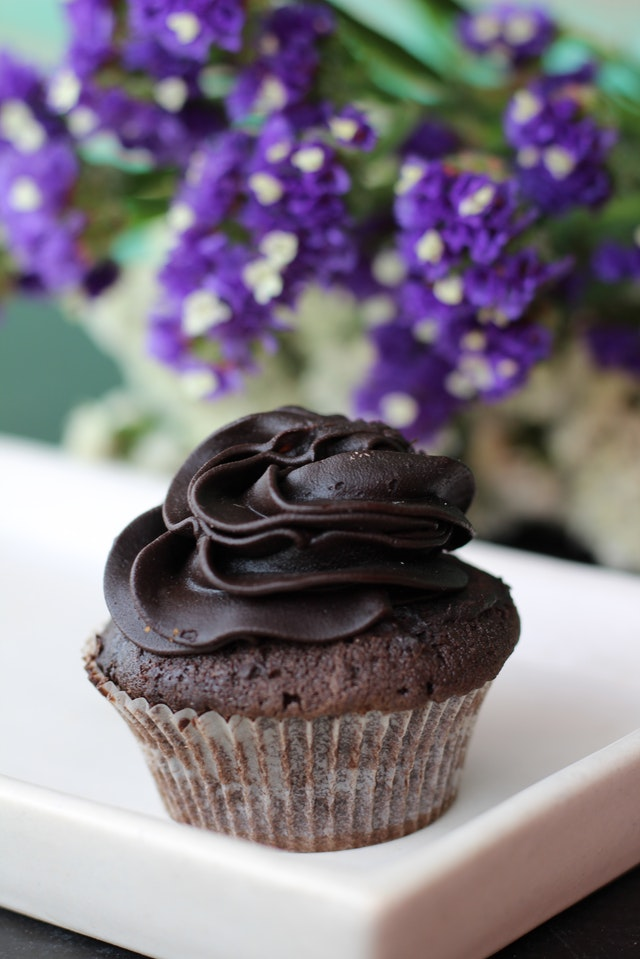 a picture of a chocolate cupcake to denote what you could get at a gluten free bakery in victoria BC