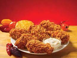 A picture of popeyes ghost pepper wings to highlight the issue if they are gluten free.